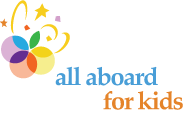 All Aboard for Kids Sticky Logo Retina